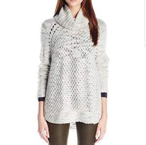 SANCTUARY Wool Knit Cowl Neck Tunic Sweater